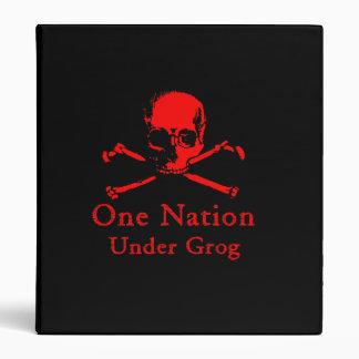 One Nation Under Grog binder (red skull)