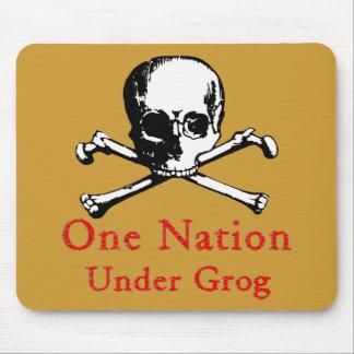 One Nation Under Grog mousepad (white fill image)