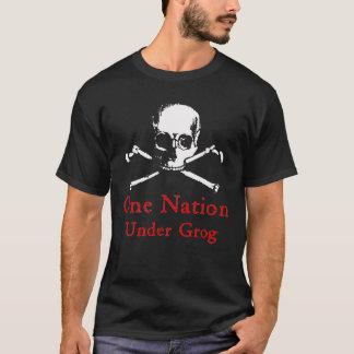 One Nation Under Grog t-shirt (white skull)