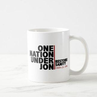 One nation under Jon (Restore Sanity) Coffee Mug