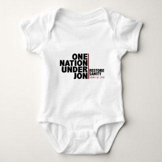 one nation under jon (stewart) baby bodysuit