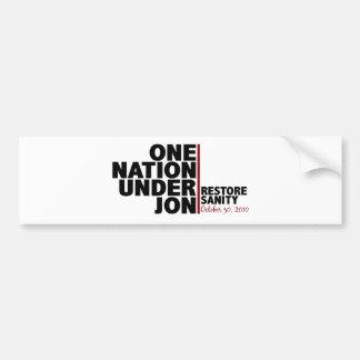 one nation under jon (stewart) car bumper sticker