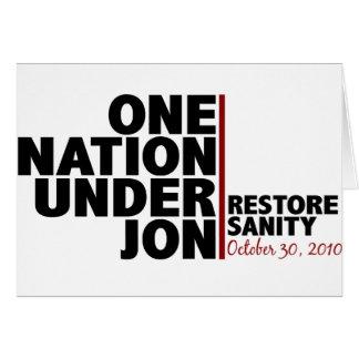 one nation under jon (stewart) greeting card