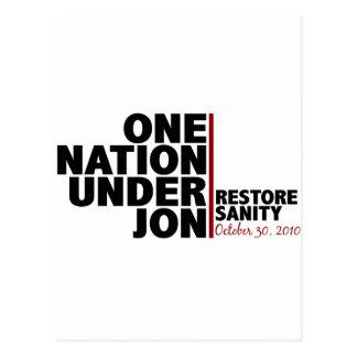 one nation under jon (stewart) postcard