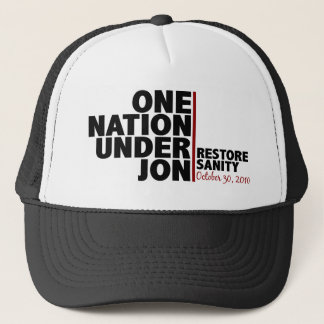 one nation under jon (stewart) trucker hat