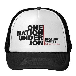 one nation under jon (stewart) trucker hat