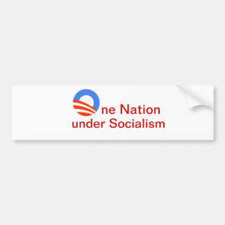 One Nation under Socialism Bumper Sticker. Car Bumper Sticker