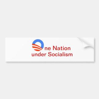 One Nation under Socialism Bumper Sticker. Bumper Sticker