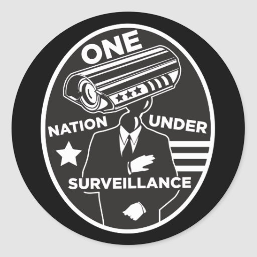 One Nation Under Surveillance Classic Round Sticker