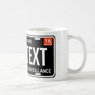 One nation under surveillance coffee mug