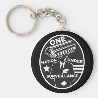 One Nation Under Surveillance Keychain