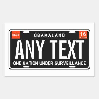 One nation under surveillance rectangular sticker