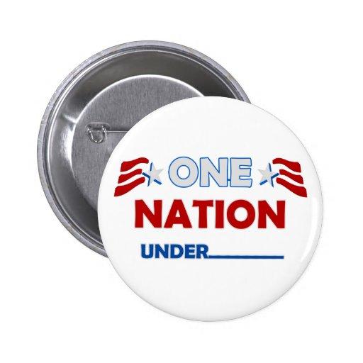 One Nation Underline 2 Inch Round Button