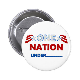 One Nation Underline Pinback Buttons