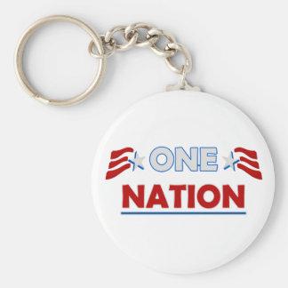 One Nation Underline Keychain