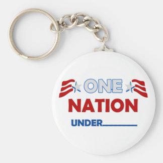 One Nation Underline Keychains