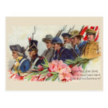 One Nation Vintage Patriotic Postcard