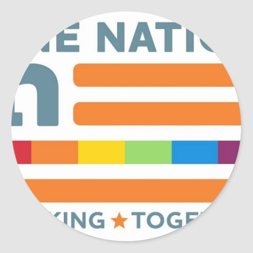 One Nation Working As One! Classic Round Sticker