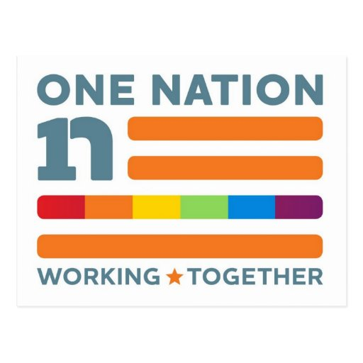 One Nation Working As One! Postcard