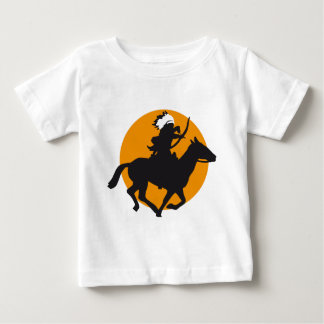 one native american on horse with bow and arrow baby T-Shirt