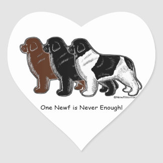 One Newf is Never Enough! Heart Sticker