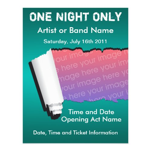 One Night Only Music Flyer flyer