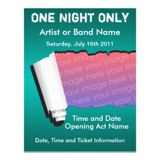 One Night Only Music Flyer
