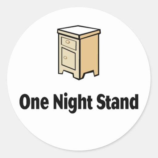 One Night Stand Classic Round Sticker