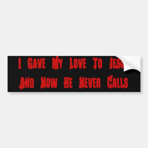 One Night Stand Jesus Car Bumper Sticker
