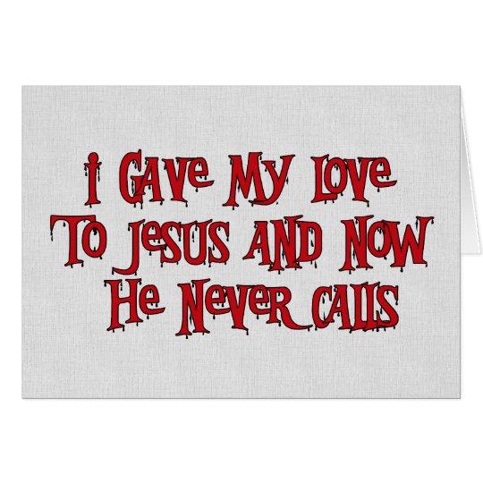 One Night Stand Jesus Card