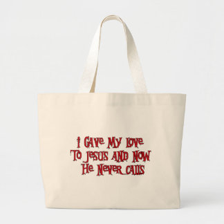 One Night Stand Jesus Large Tote Bag
