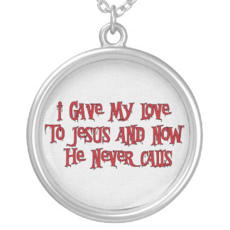 One Night Stand Jesus Silver Plated Necklace