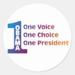One Obama Classic Round Sticker