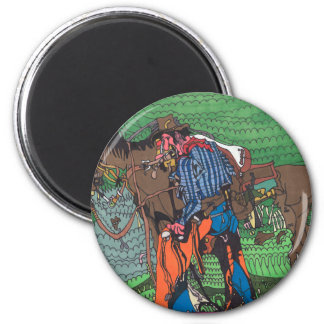 One of a kind cowboy magnet