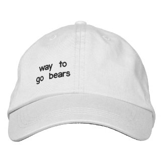 one of a kind embroidered baseball cap