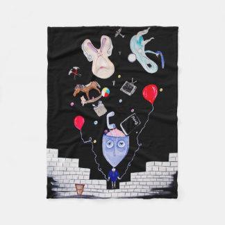 One-of-a-kind Fleece Blanket. Pink's Wall.