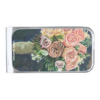 One of a Kind Floral Bouquet Money Clip