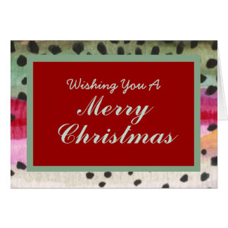 One of a Kind Fly Fishing Trout Skin Christmas Card