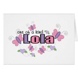 One Of A Kind Lola Card