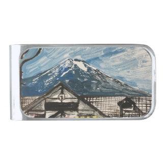 One of a Kind Mount Fuji Japan Money Clip