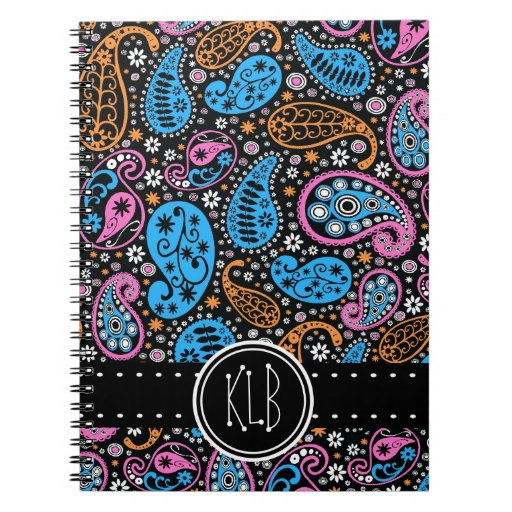 One of a Kind Paisley Print Girl's Personalized Note Books