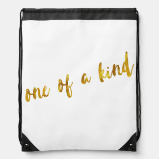 One of a Kind Quote Faux Gold Foil Metallic Design Backpack