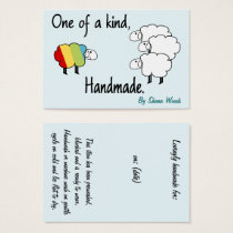 One Of A Kind Rainbow Sheep Hang Tag