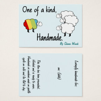 One Of A Kind Rainbow Sheep Hang Tag