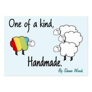 One Of A Kind Rainbow Sheep Hang Tag Large Business Cards (Pack Of 100)