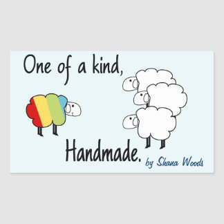One Of A Kind Rainbow Sheep Sticker