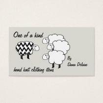 One Of A Kind Sheep Black And White Business Card