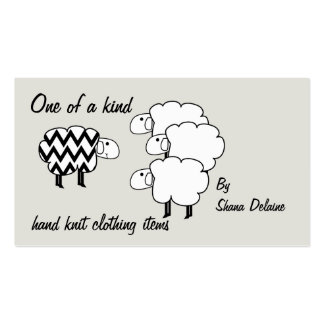 One Of A Kind Sheep Hang Tag Business Card