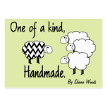 One Of A Kind Sheep Hang Tag Large Business Cards (Pack Of 100)