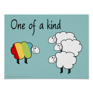One of  a Kind Sheepy Poster